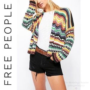 Free People Feeling Nostalgic Open Front Cardigan